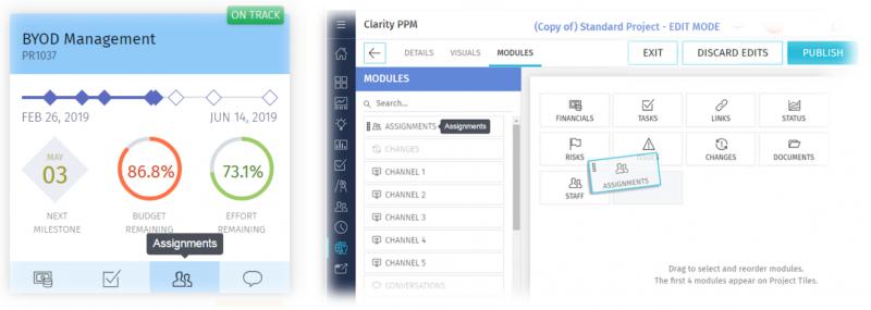 clarity 15.6.1 ux design
