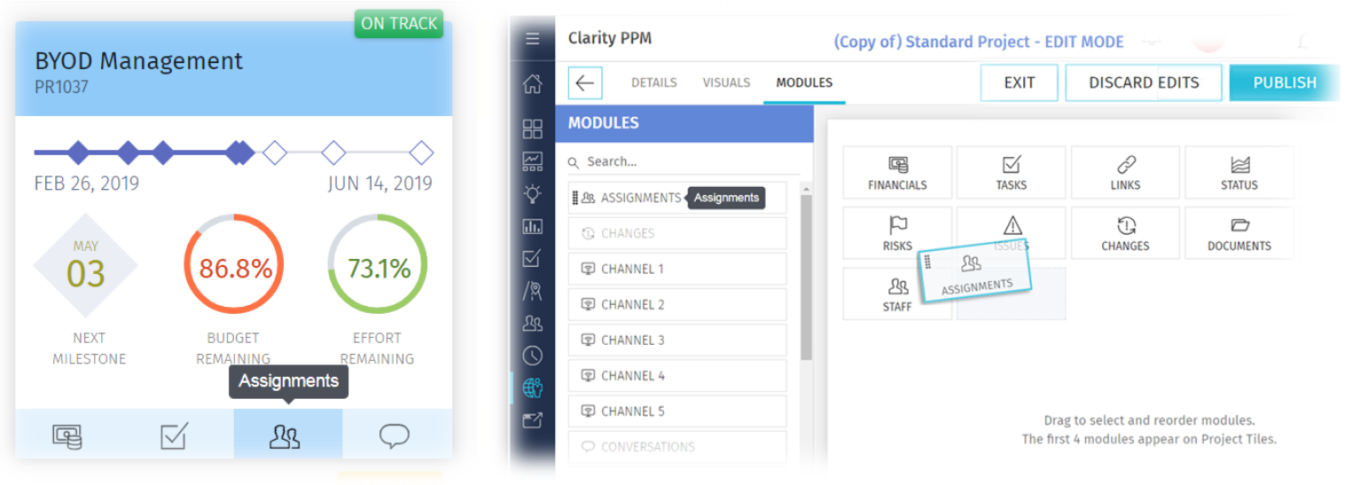 clarity 15.6.1 ux design