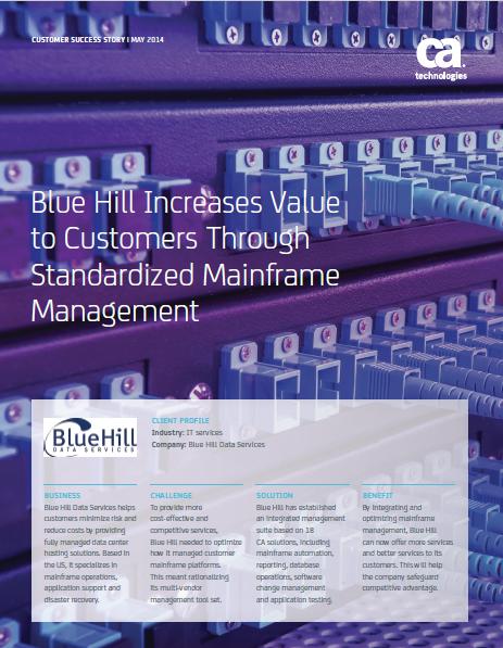 mainframe case study bluehill