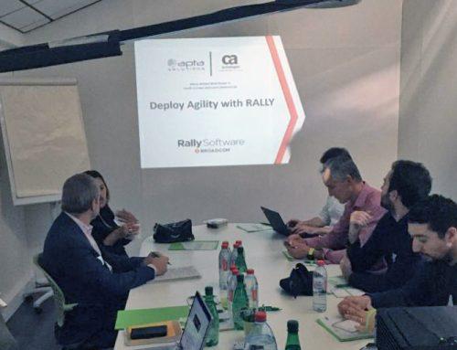 Apta Solutions et Coprime ont proposé un atelier sur l'agilité et la valeur apportée par Rally (Broadcom)